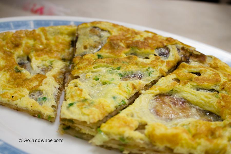 Scallion pancakes with eggs