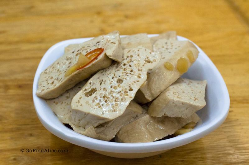 豆干 Dried tofu (NT$30)