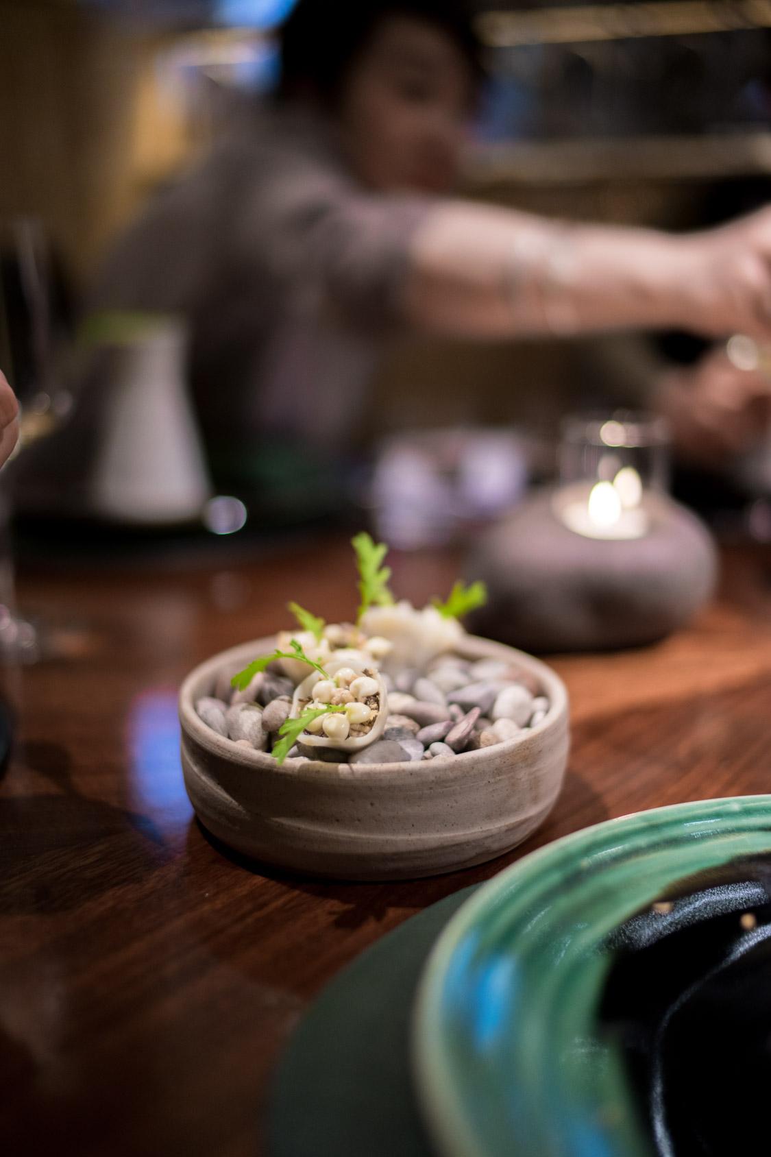 Puffed barley, mushroom, celeriac and juniper
