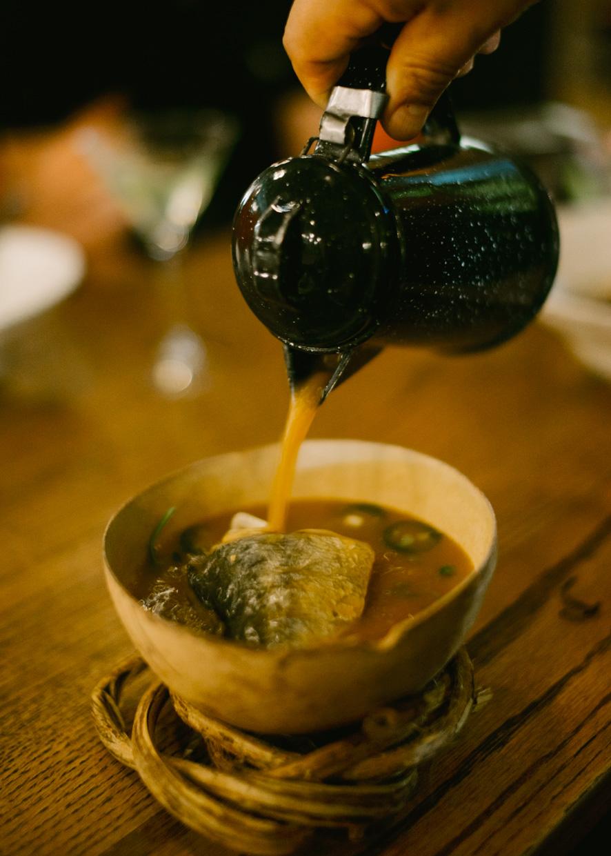 Caldo de Piedra  (Seafood stone soup)