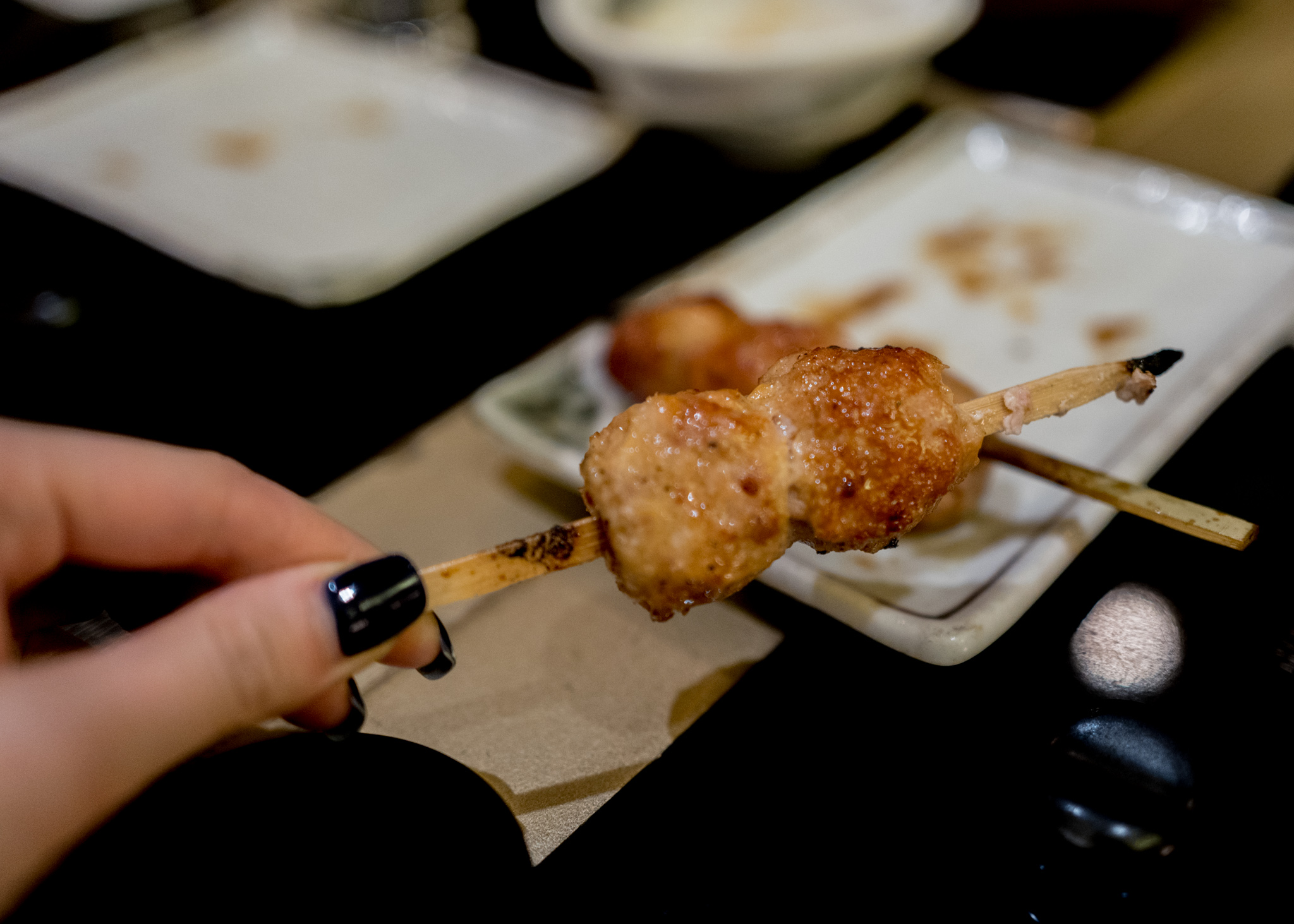 Chicken meatball skewers!