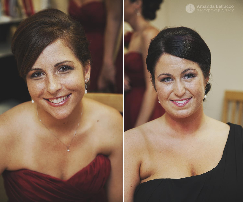 Bridesmaids portraits at the Italian American Community Center.