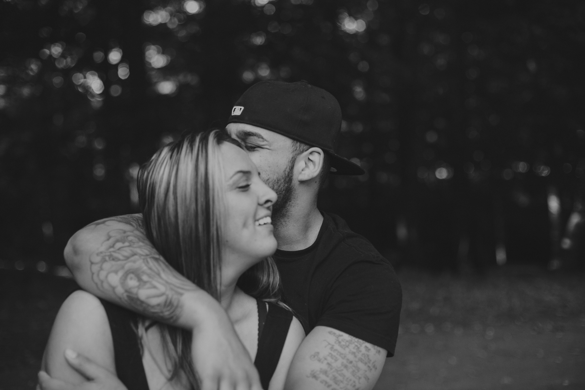 Outdoor engagement-style couples photography at Ellison Park in Rochester, NY.