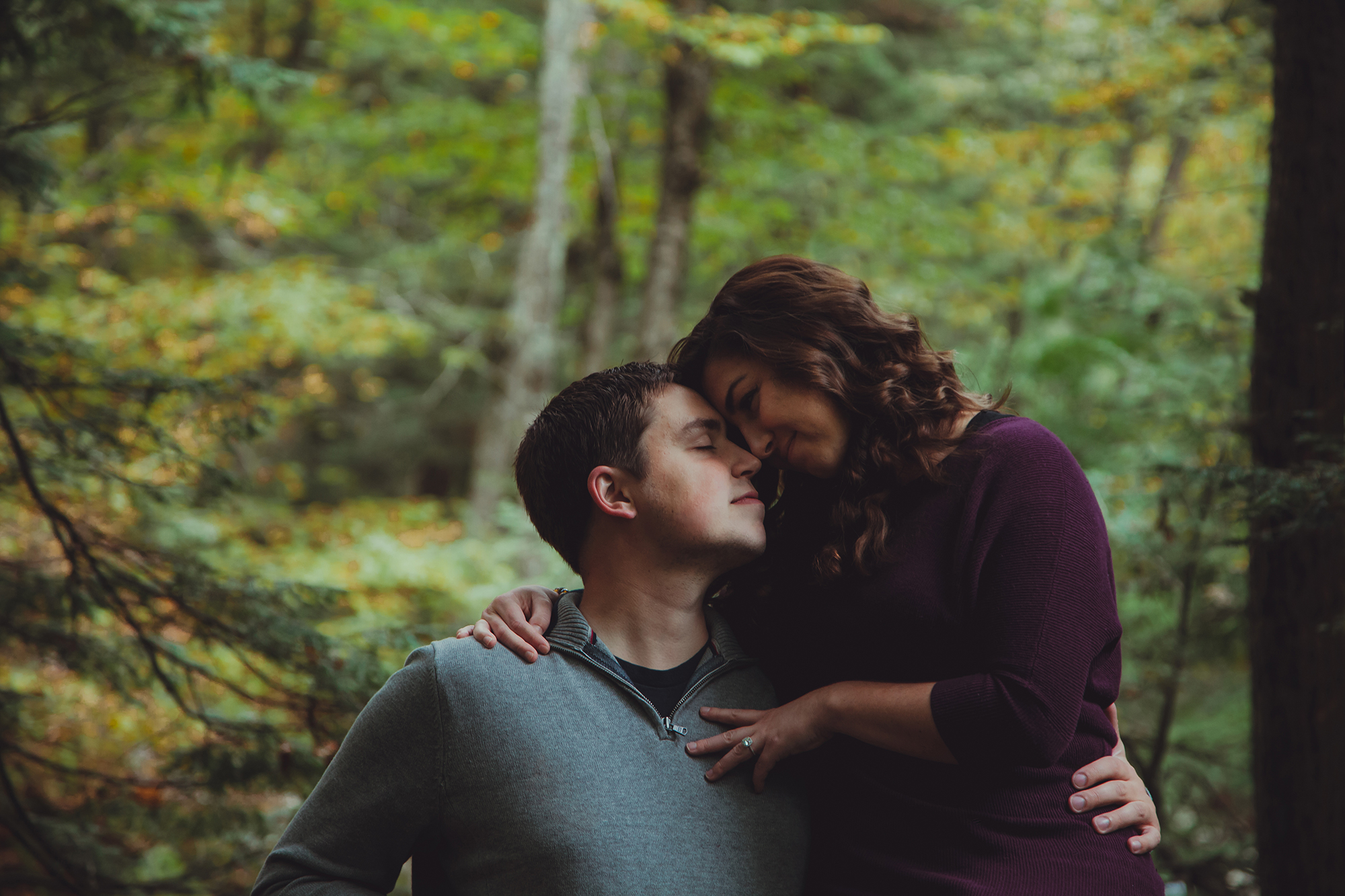 Engagement photo session at Chittenango Falls State Park.