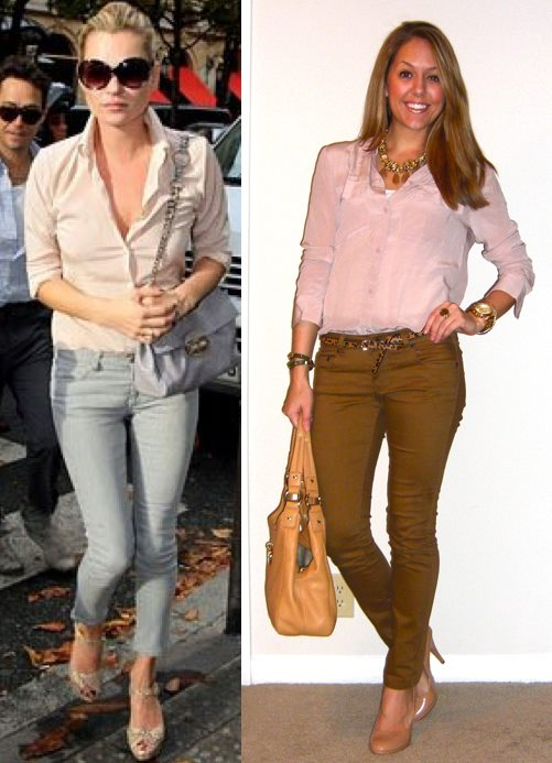 Left photo: InStyle   Shirt: Moda c/o MJR Sales, $24 -   http://bit.ly/y6KE9s   Pants: Hwy Jeans c/o TJ Maxx, $18   Belt: Urban Outfitters, $20   Purse: Calvin Klein from TJ Maxx, $120   Shoes: Colin Stuart c/o MJR Sales, $17 -  http://bit.ly/wJVgh0   Necklace: My Stella & Dot website, $136 -  http://bit.ly/z57KJF   Watch: Michael Kors, family gift -  http://amzn.to/qqJe2S   Bracelets: My Stella & Dot website, $49 and $59 -  http://bit.ly/tXB9AY     http://bit.ly/vahj2T   Ring: My Stella & Dot website, $49 -  http://bit.ly/AhOhO4