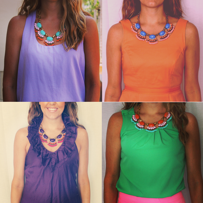 Fan Necklaces via  Instagram