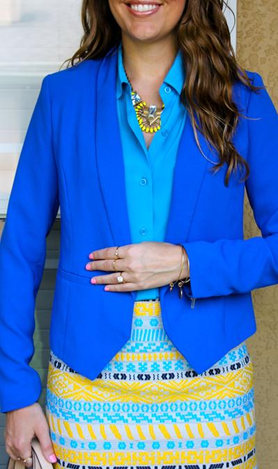 Cobalt blazer outfit