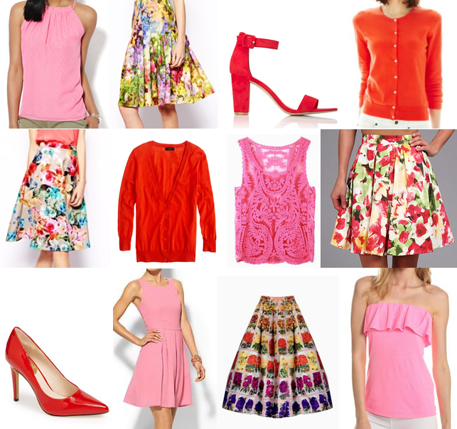 Florals, red and pink under $100