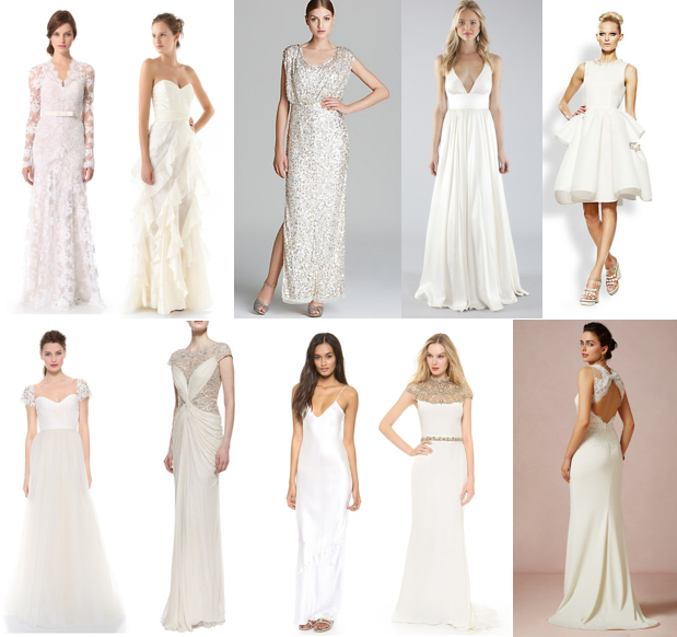 Shop off-the-rack bridal gowns
