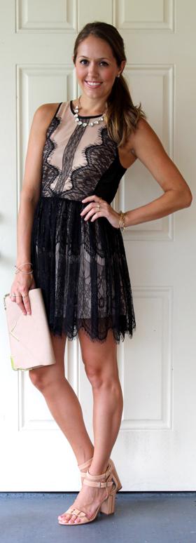 F21 scalloped lace dress