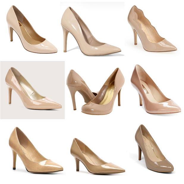 Nude shoes under $90