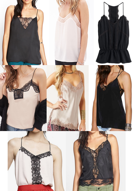 Lace camis on a budget