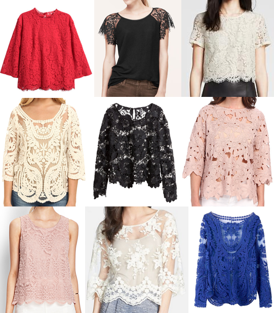 Lace tops under $60