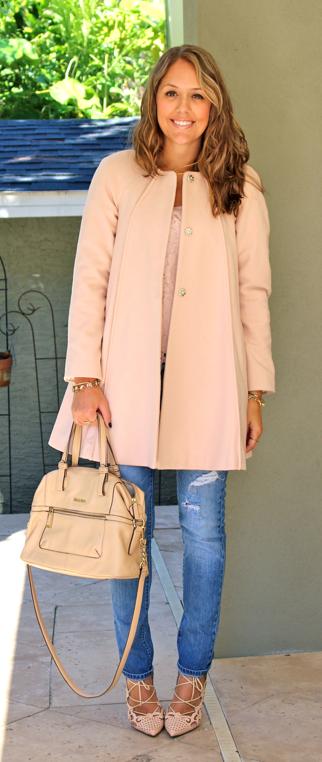 Baby pink coat