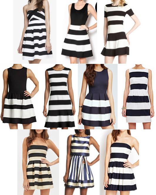 Wide stripe dresses under $100