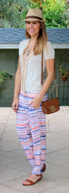 Ruffle sweater with J.Crew Factory beach pants