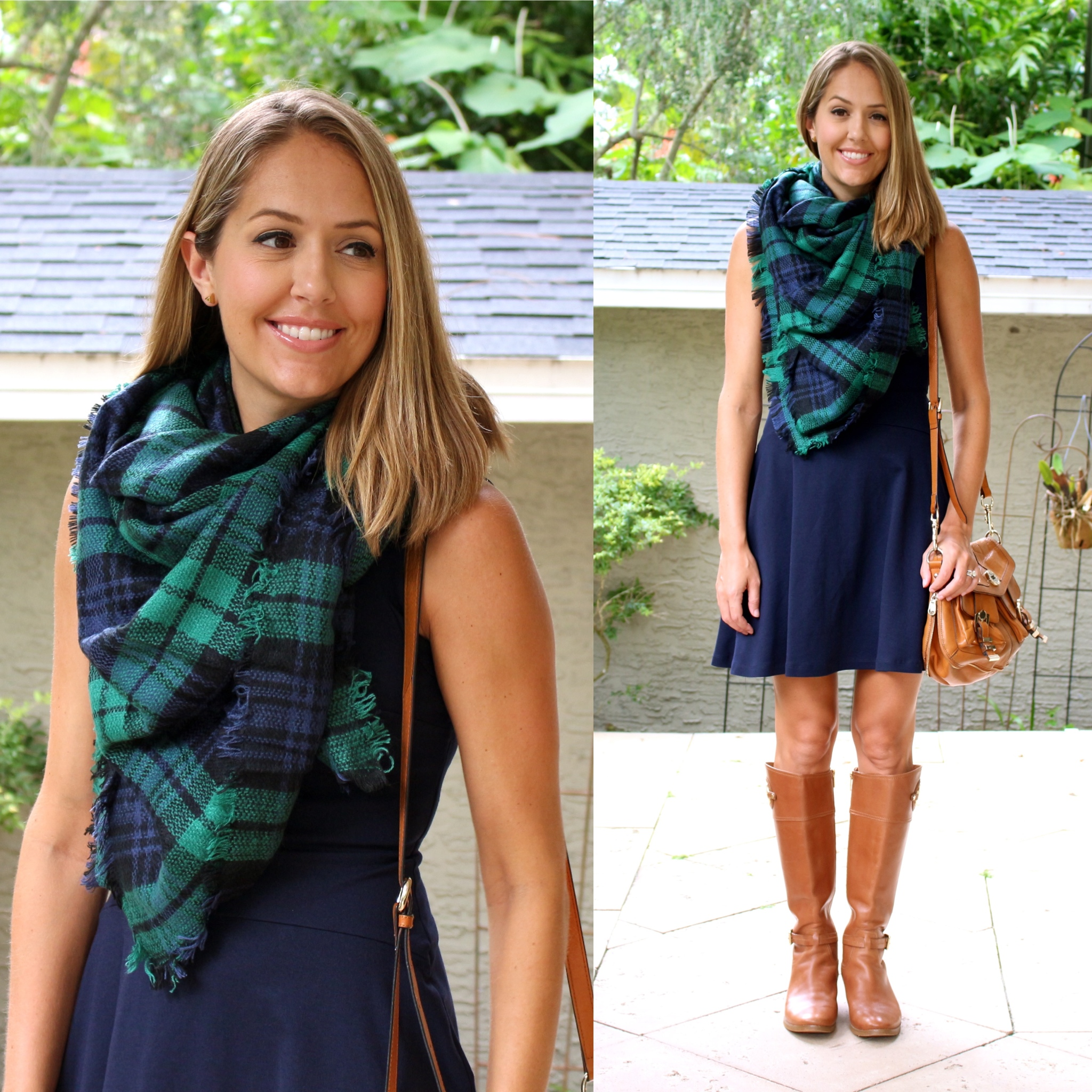 Jane.com $500 giveaway - plaid scarf