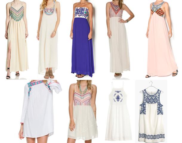 Embroidered dresses under $100
