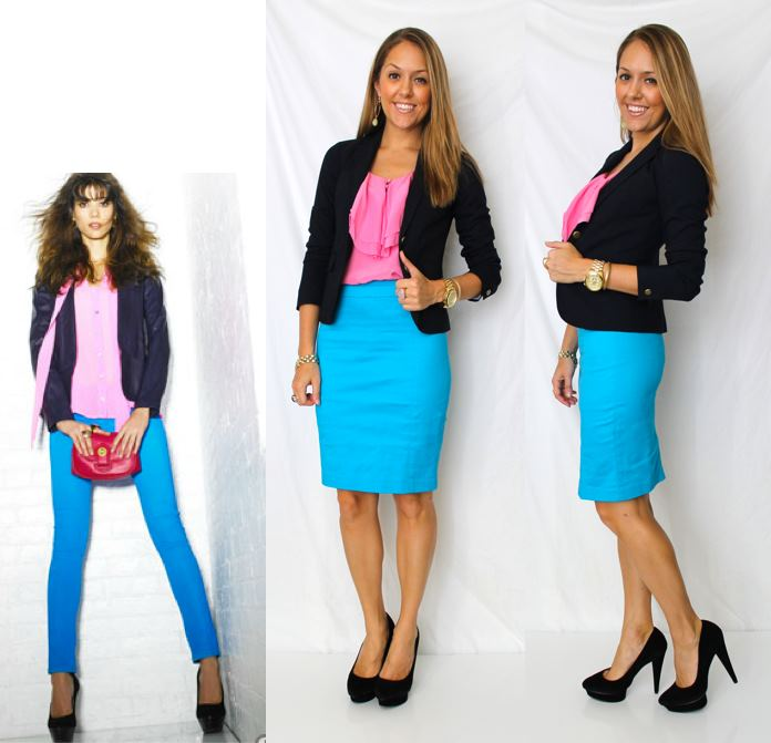 Color Combo: Pink, Blue and Navy