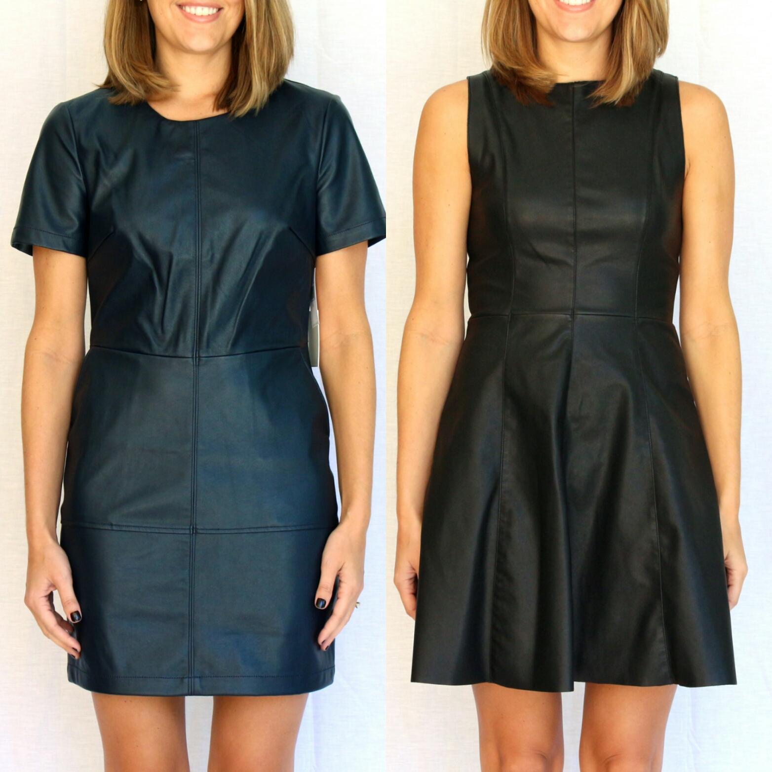 Leather sheath dresses under $80