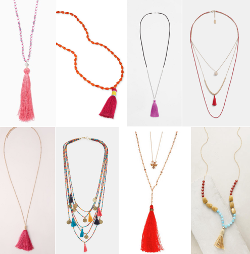 Tassel necklaces on a budget
