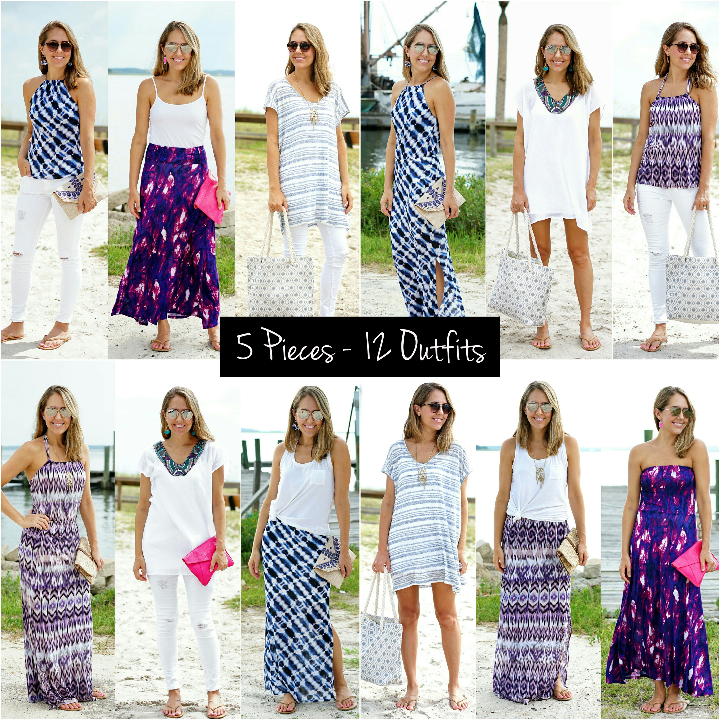 VacayStyle - 5 Pieces, 12 Outfits