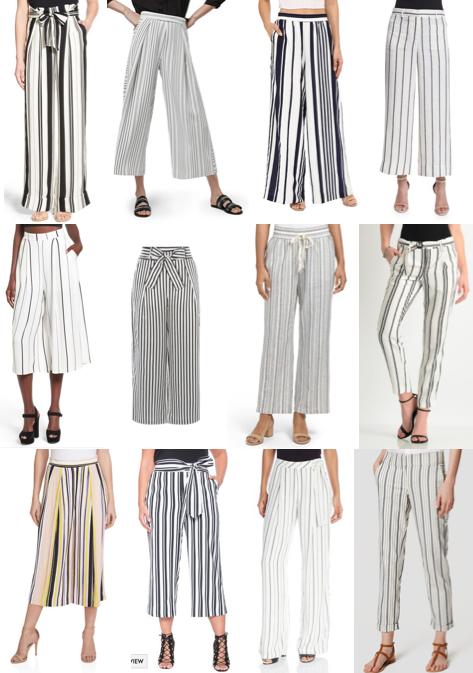 Striped pants on a budget