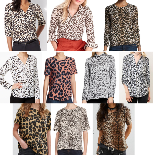 Leopard tops on a budget