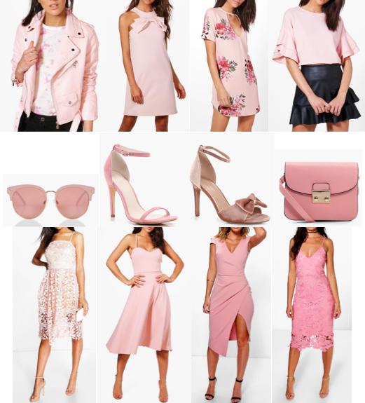 boohoo blush pink