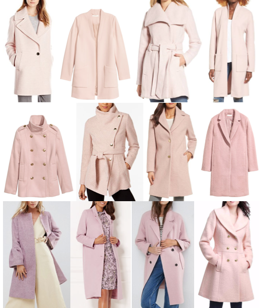 Pink wool coats on a budget
