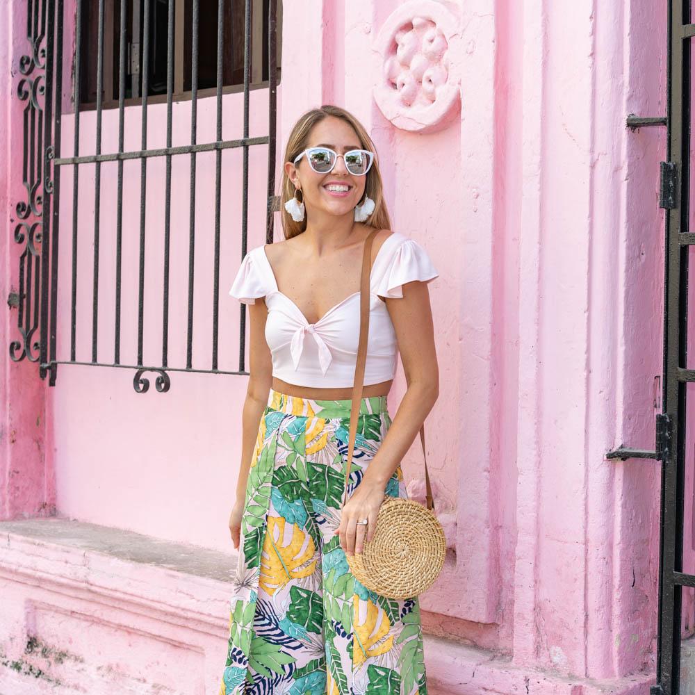 Palm print in Havana, Cuba