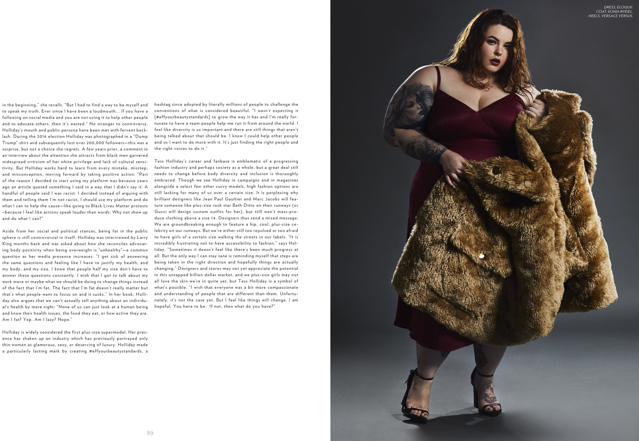 TESS HOLLIDAY x LADYGUNN MAGAZINE