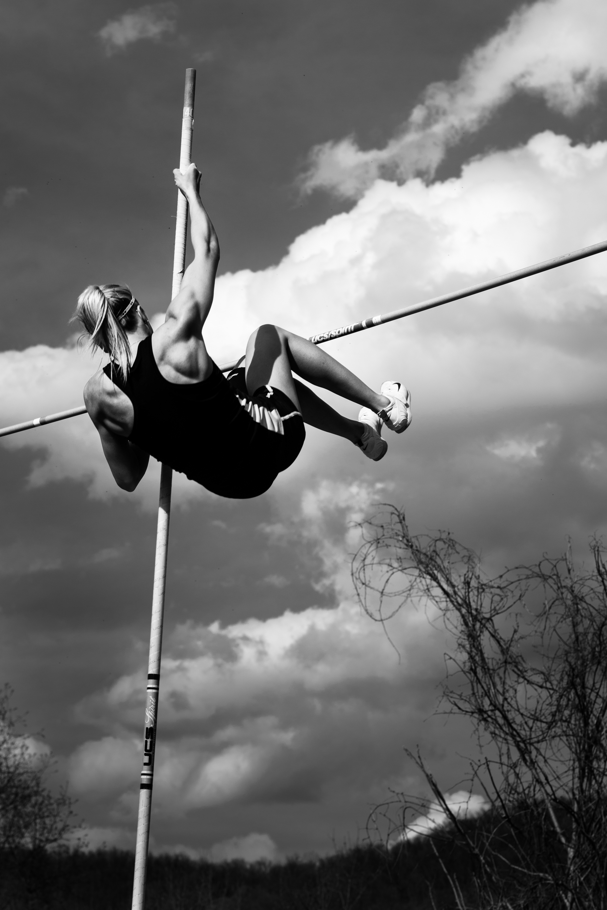 pole vaulting college track and field meet