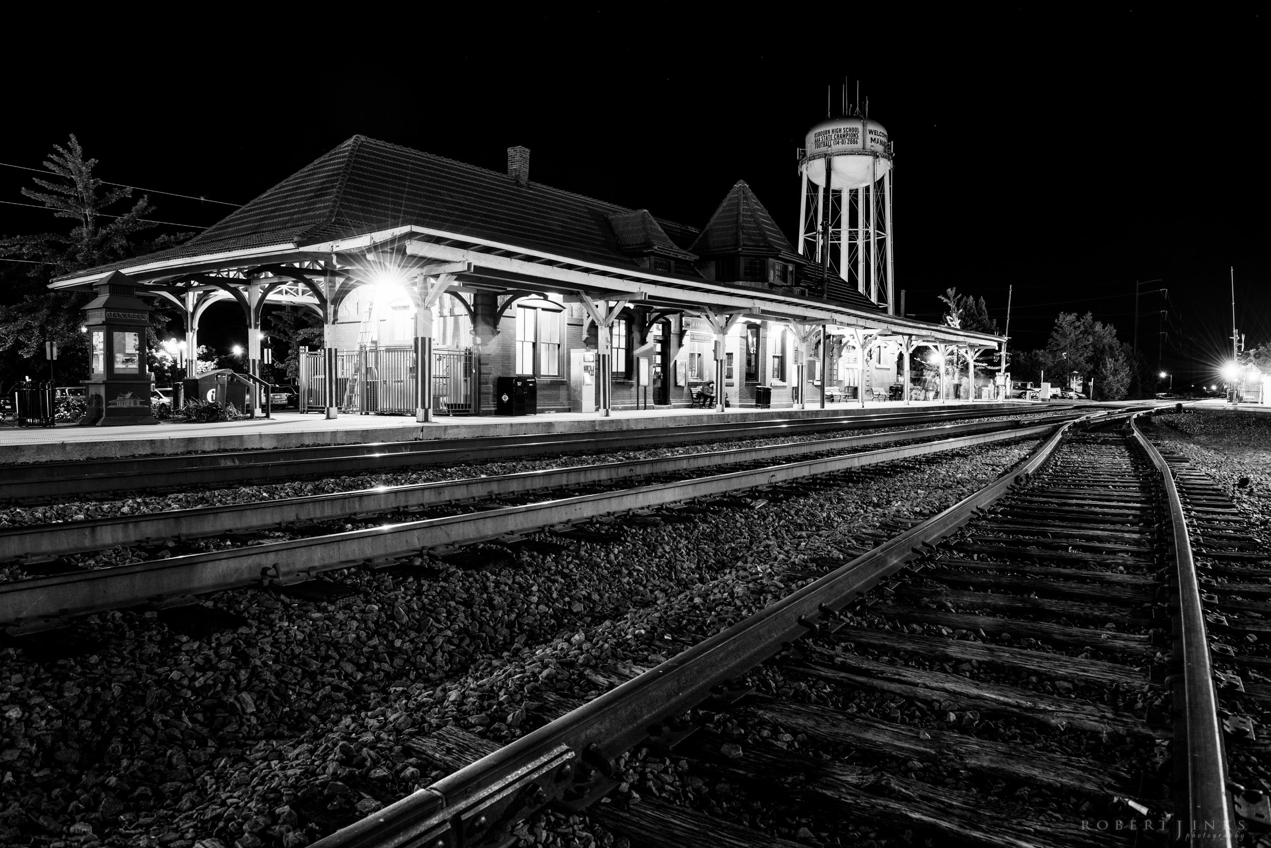 The train station in Historic Old Town Manassas