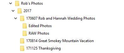 Photo Backup File Naming Structure