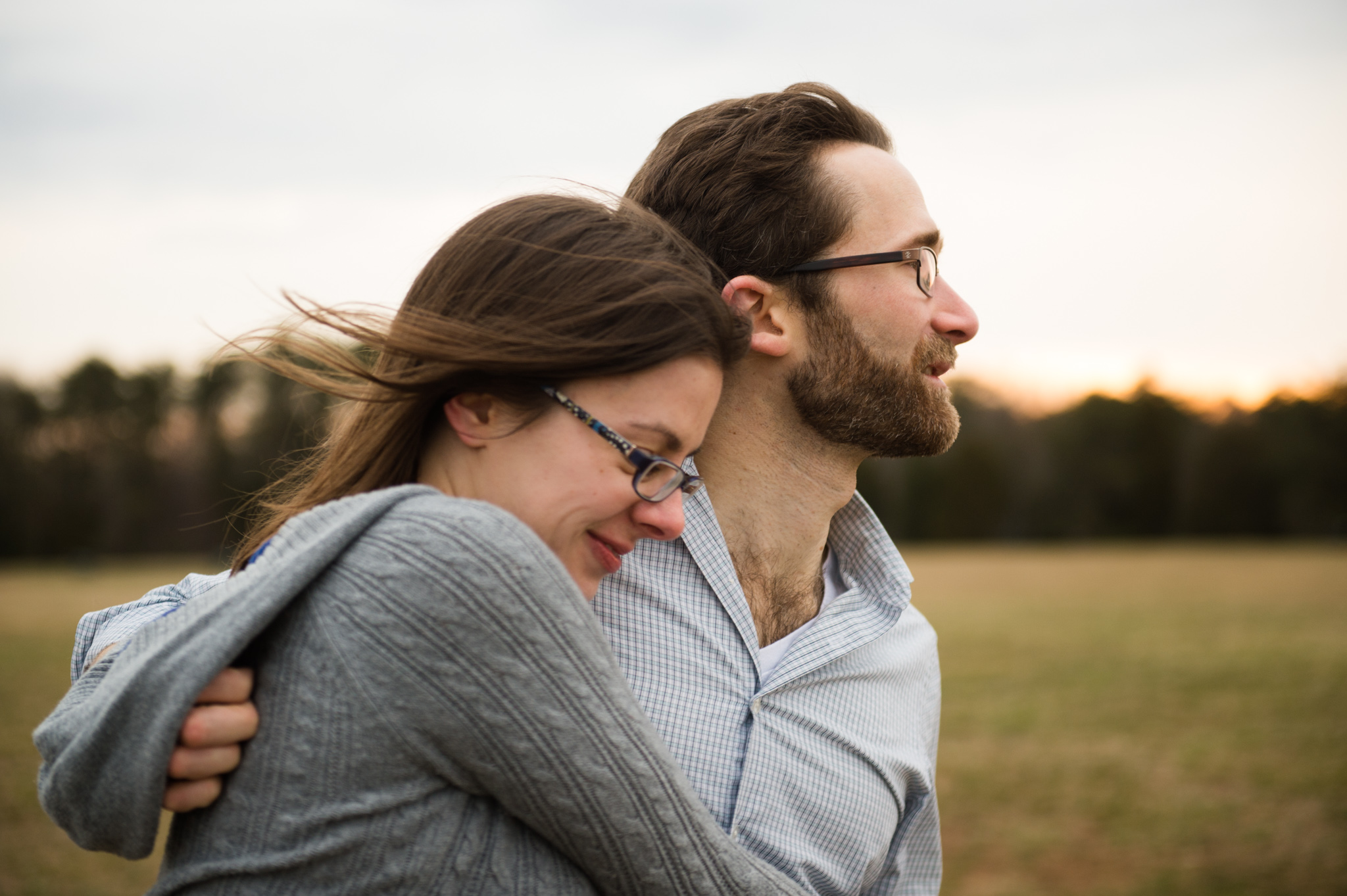 fun candid engagement session