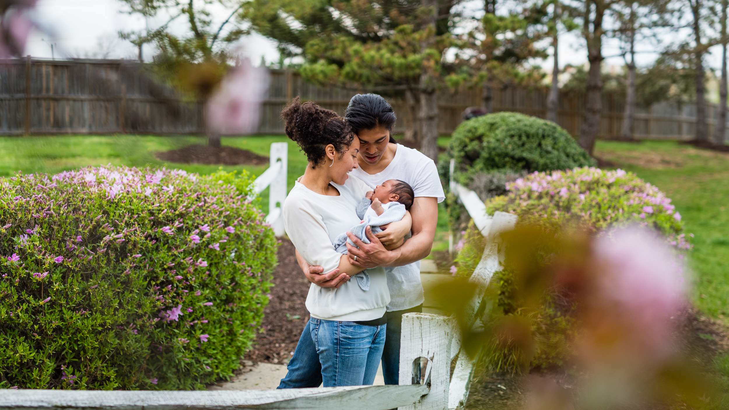 One month old baby family session in Alexandria Virginia