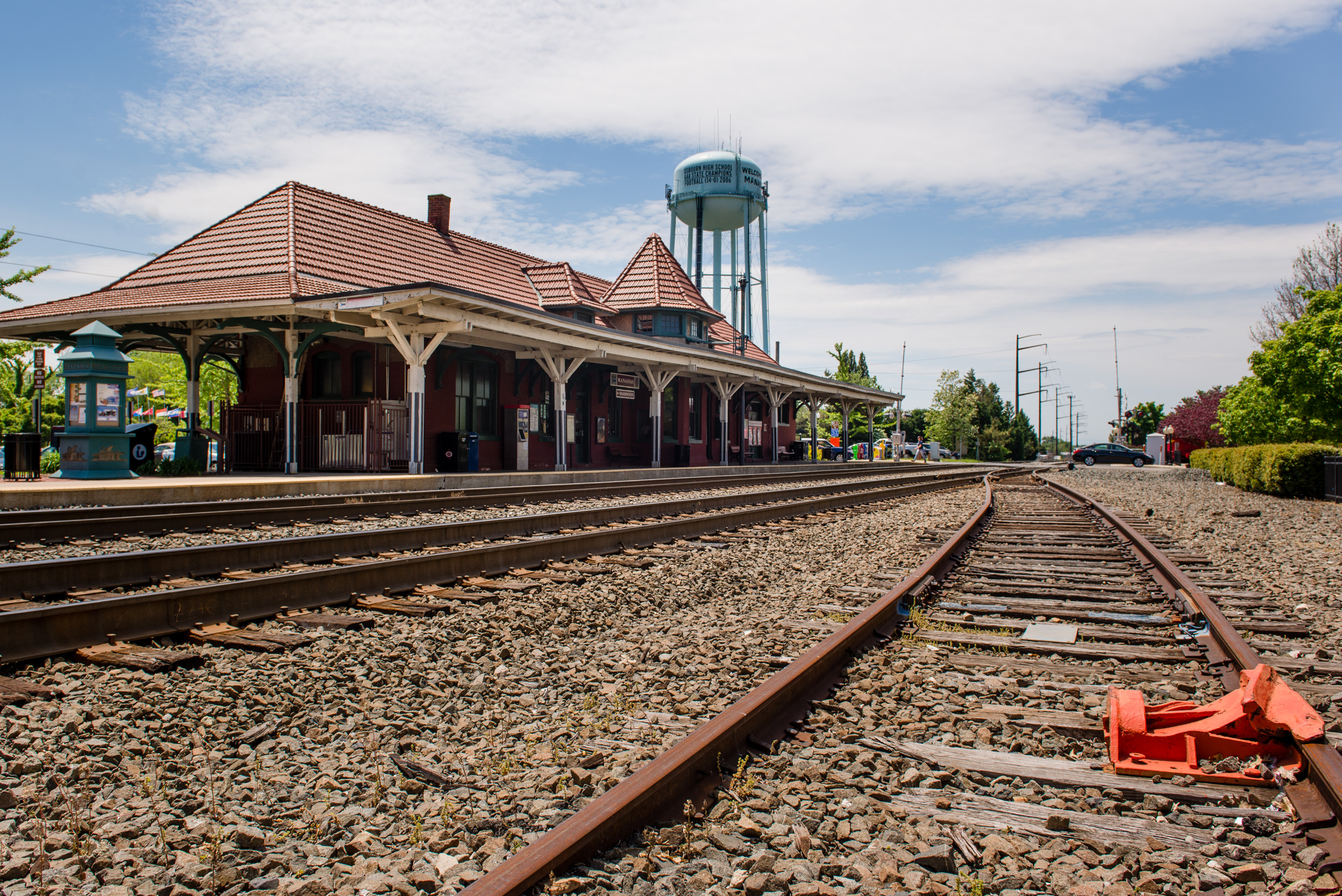he Historic Old Town Manassas train station.