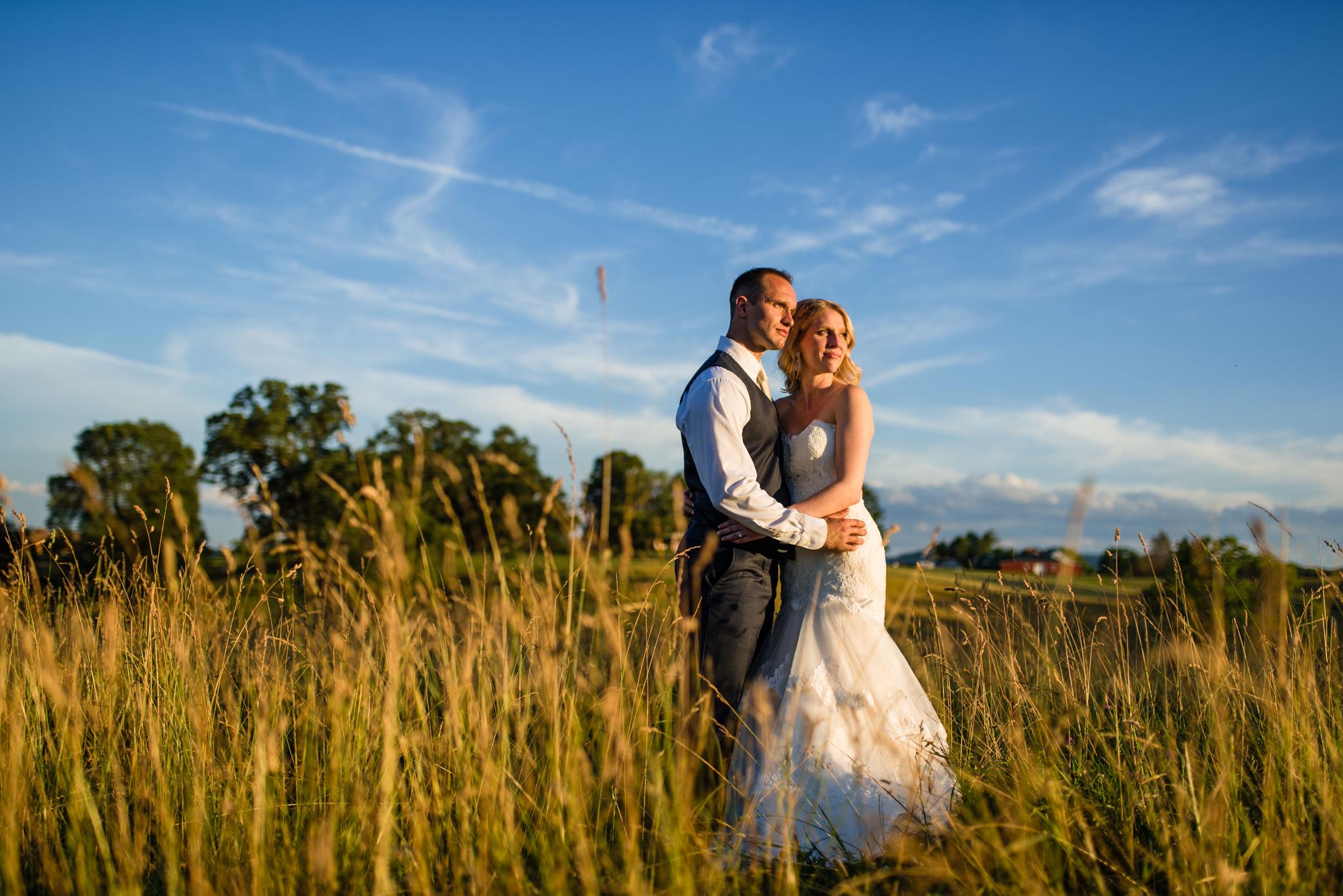 wedding golden hour