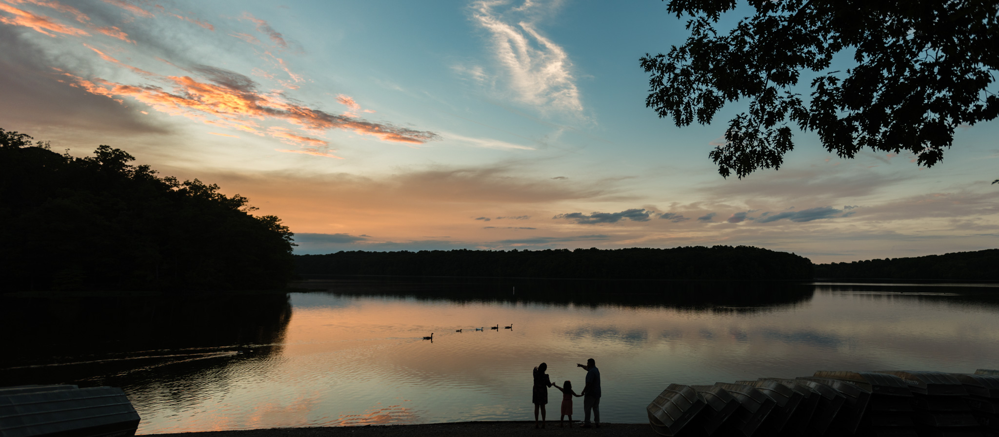 Family photo and engagement session at Burke Lake