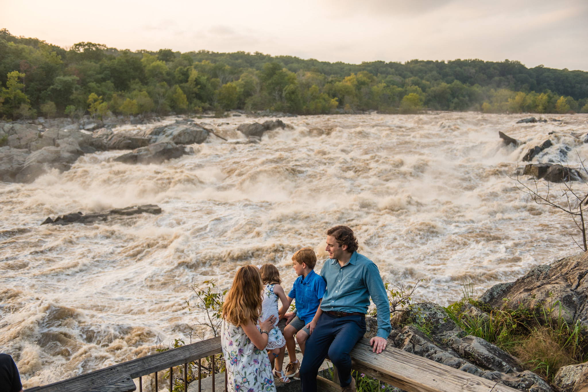 Great Falls National Park Family Portrait Session