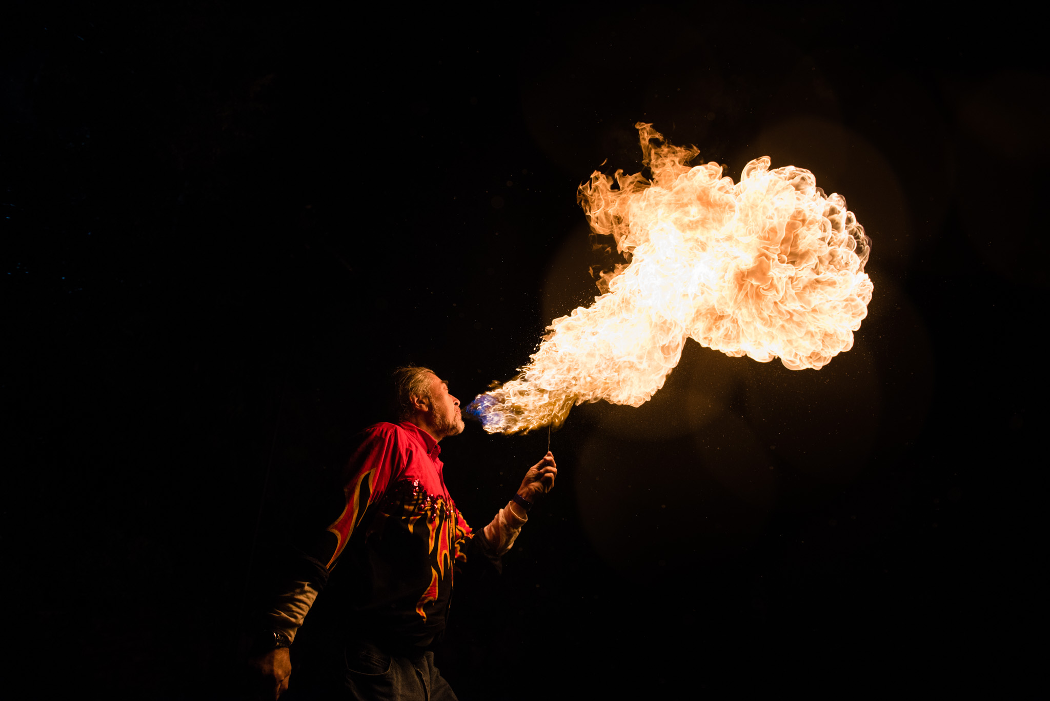 Fire Breather at the Night of the Living Zoo