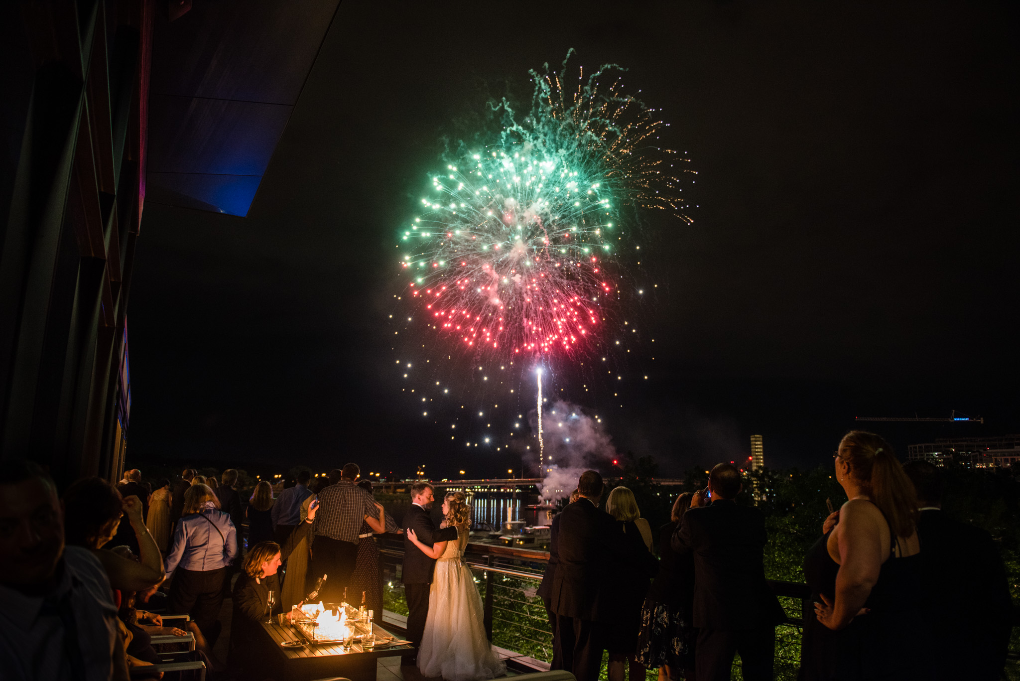 District Winery Wedding Nationals Fireworks