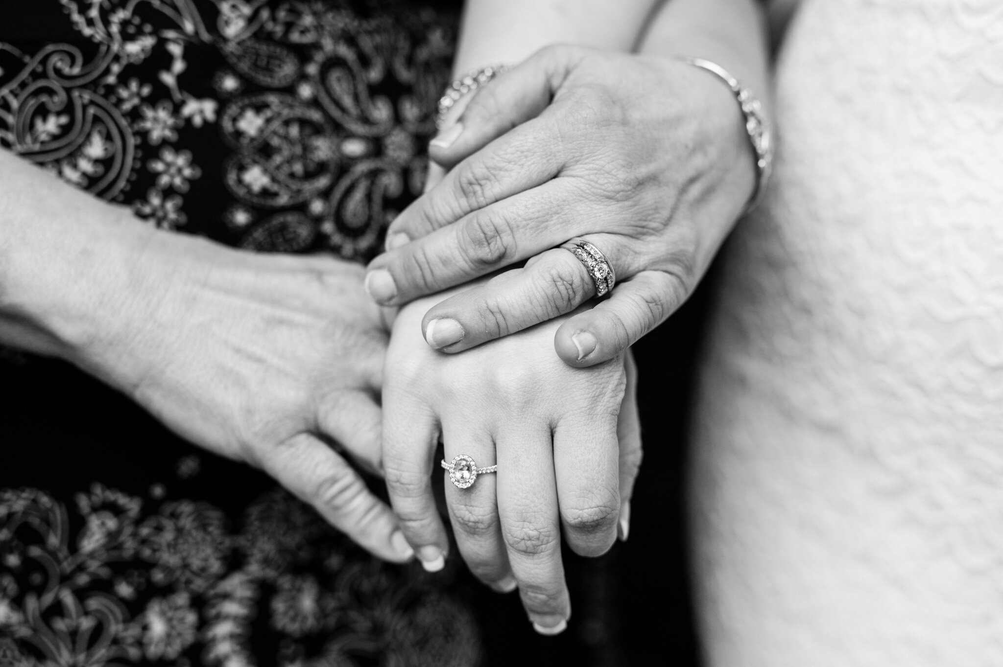 Mother and daughters hands