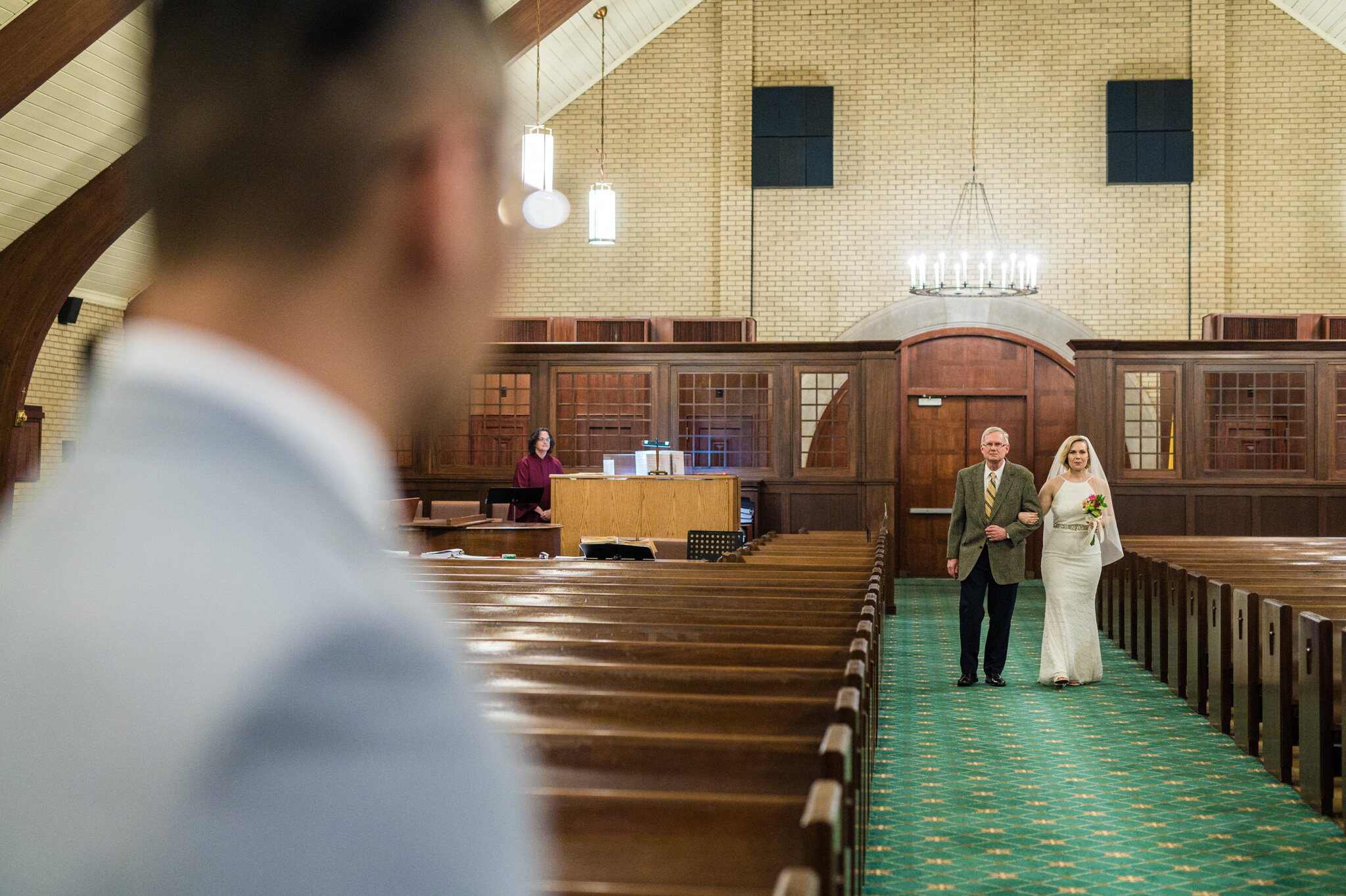 Wedding elopement ceremony at St Hughes
