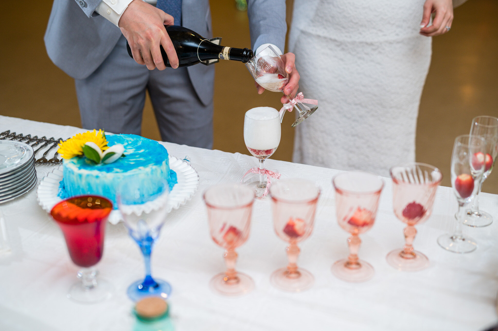 Wedding reception toasts during COVID19 outbreak