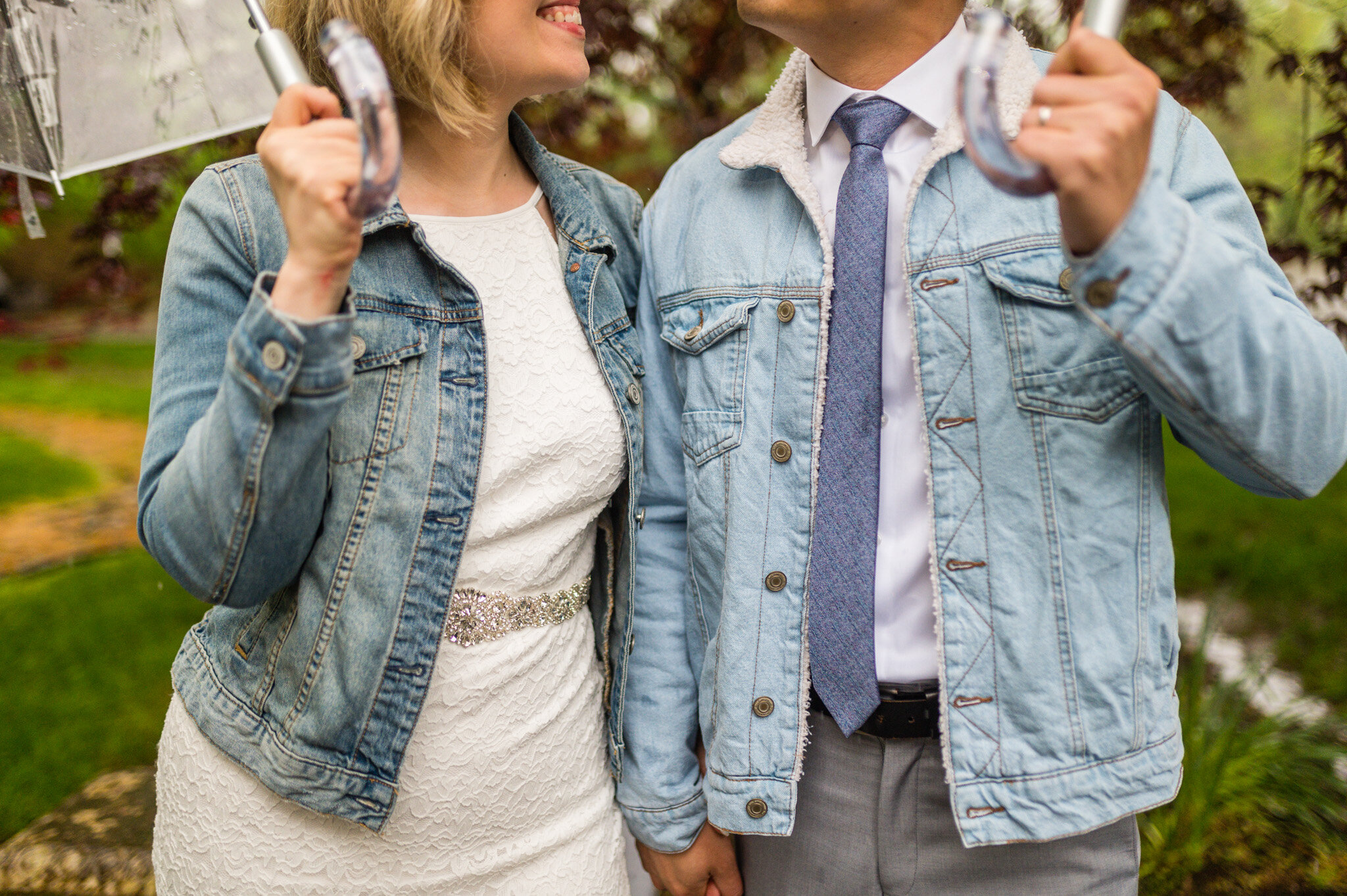 Wedding formals and denim jackets