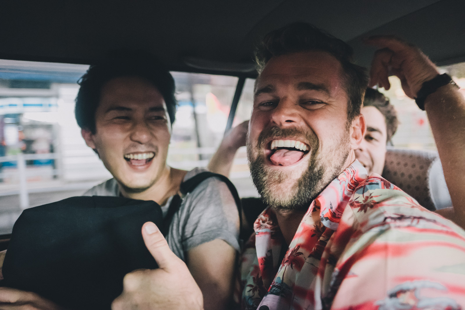 Friends in a Cab.jpg