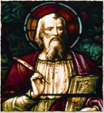 Chancel window depicting St. John the Apostle