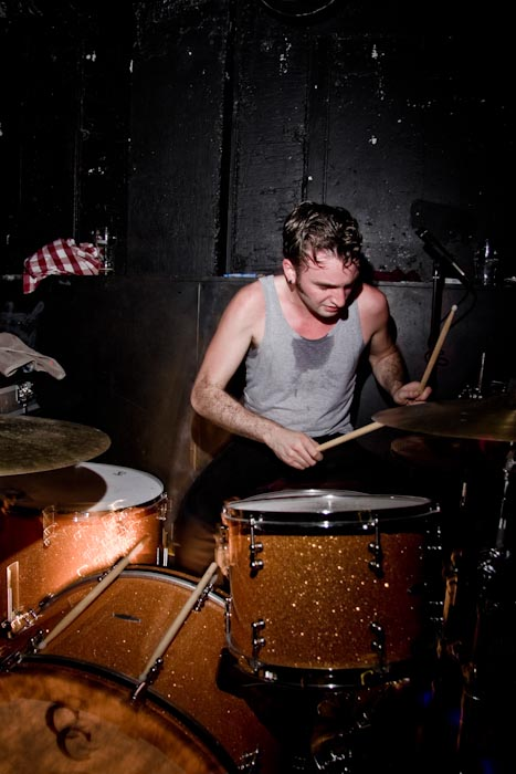 Dublin. 5th November 2010. Shane Kinsella of  The Minutes  during their secret gig at the Thomas House.